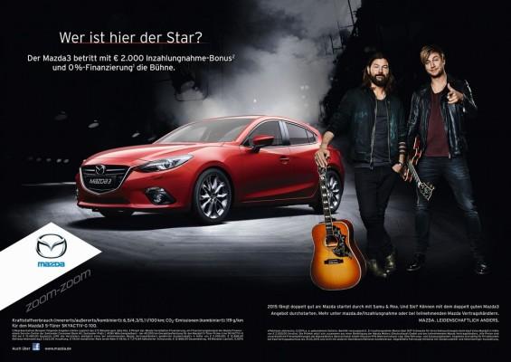 Mazda setzt auf Rea Garvey und Samu Haber