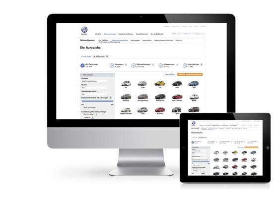 Volkswagen vereinfacht digitale Autosuche