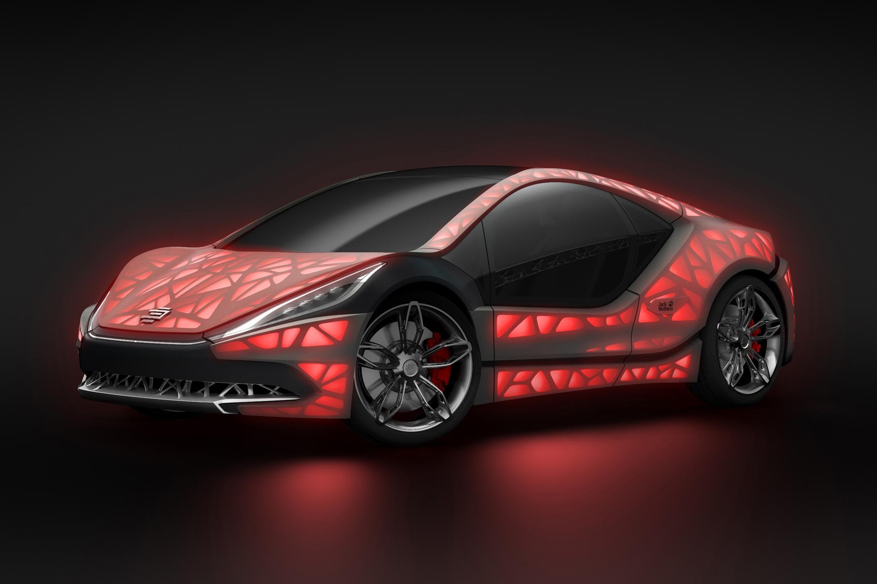 Edag: Leichtbau-Sportwagen mit Textil-Haut