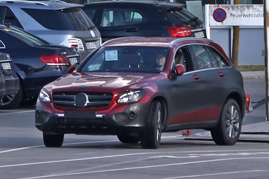 Erwischt: Erlkönig Mercedes GLC (GLK) - aktuelle Bilder
