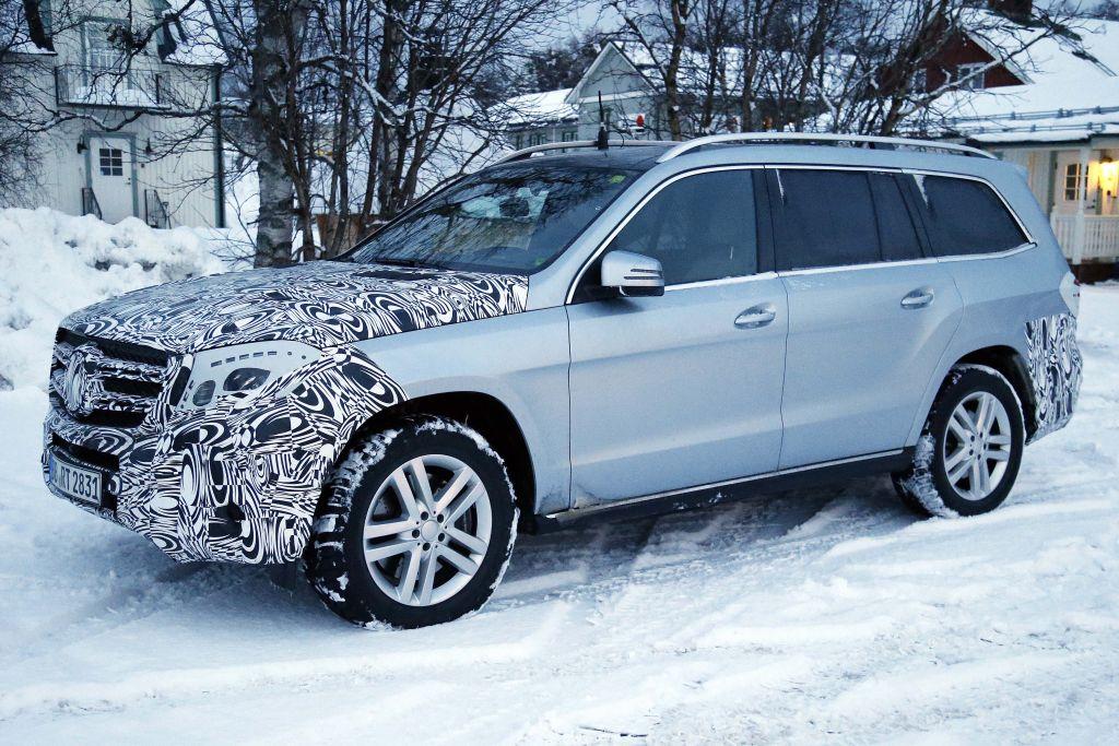 Erwischt: Erlkönig Mercedes-Benz GLS (GL) Facelift