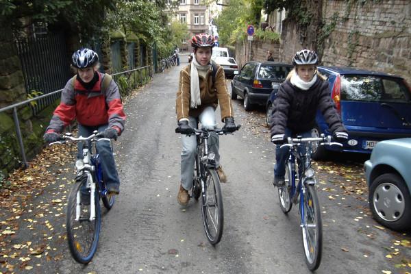 Deutsche Radfahrer sind Helm-Muffel