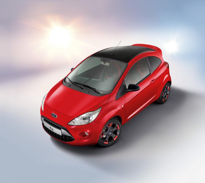 Ford Ka in Rot und Schwarz