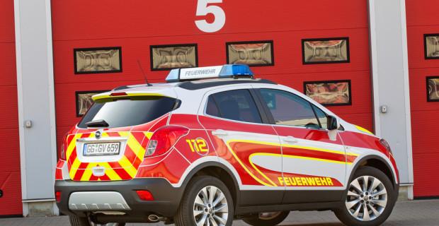 Ein solcher Opel Mokka schmückt jede Feuerwehr