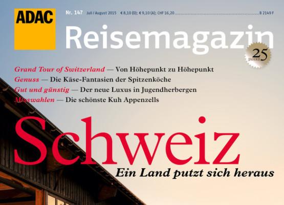 """ADAC gibt Reisemagazin """"Schweiz"""" heraus"""