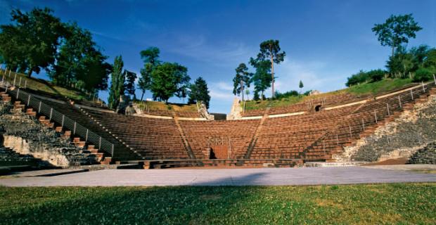 Das roemische Theater in Augusta Raurica bei Augst im Kanton Baselland.