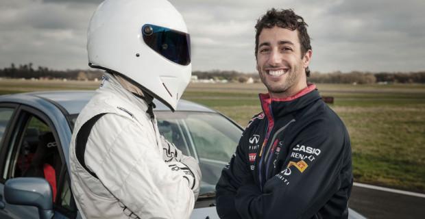 Picture Shows: The Stig and Daniel Ricciardo