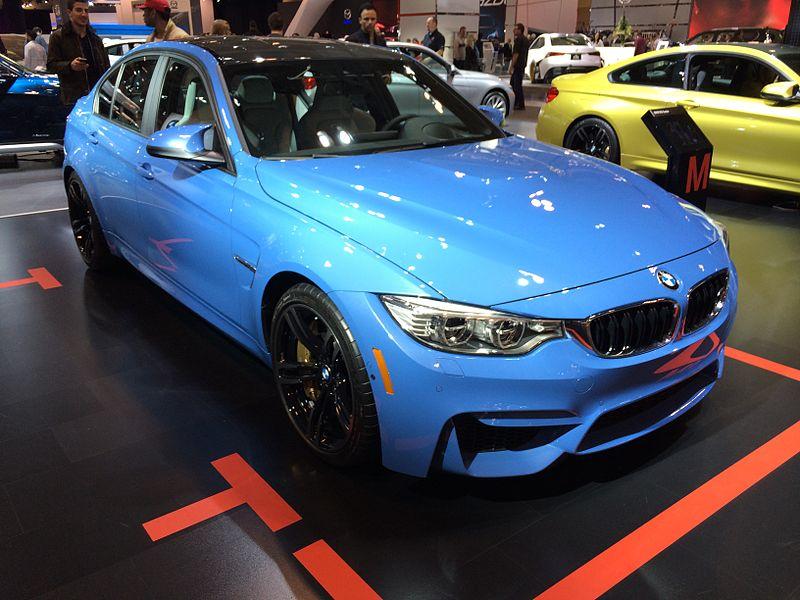 Blue BMW F30 M3 at the 2014 Toronto Auto Show