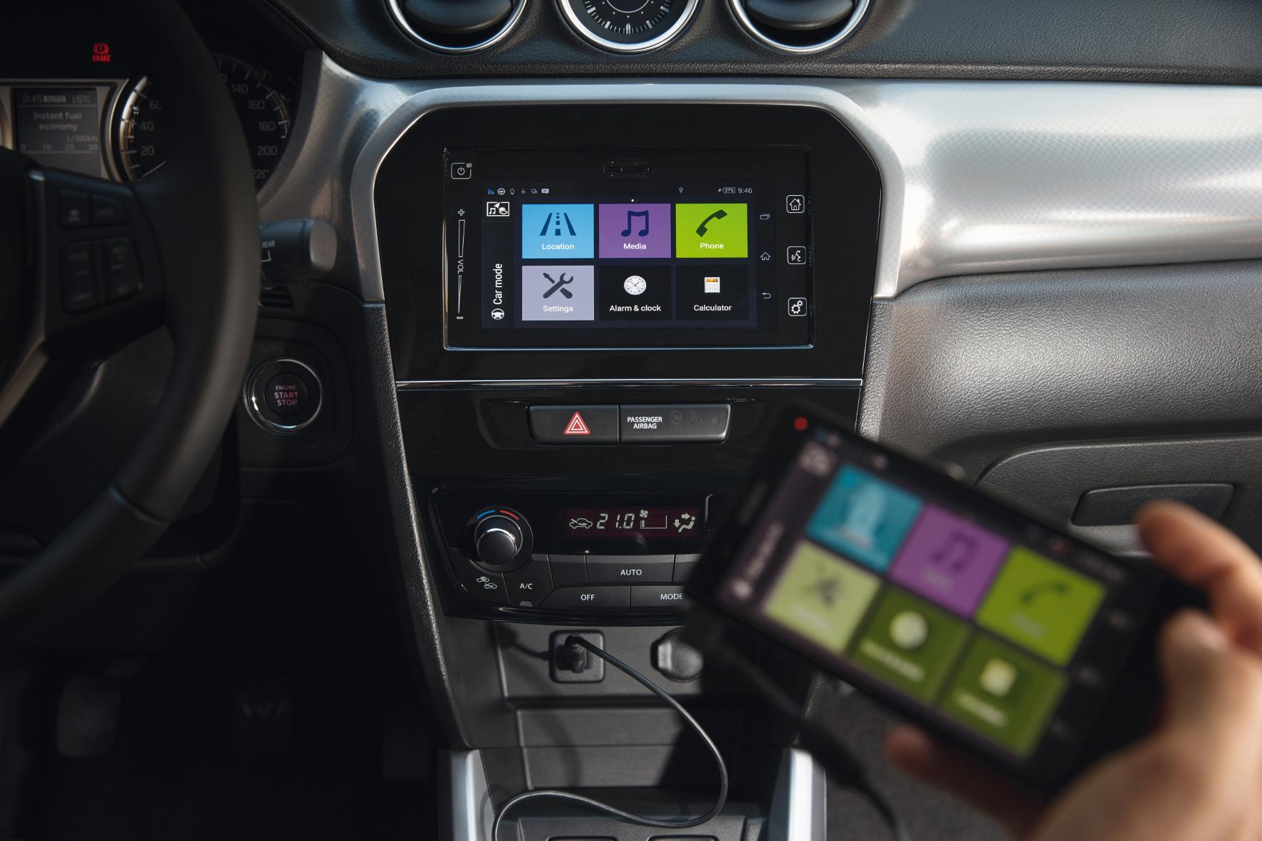 Das Multimedia-System mit Touchscreen und Smartphone-Koppelung im Suzuki Vitara lässt sich einfach bedienen und funktioniert tadellos.