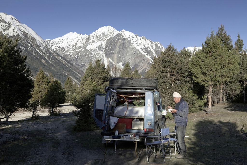 """""""Otto"""" und Gunther Holtorf in Tibet (2011)"""