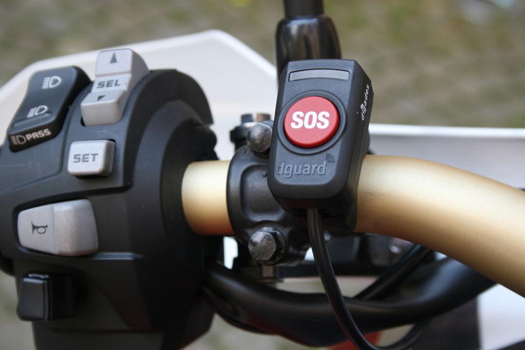 E-Call-System D-Guard für Motorräder: SOS-Taste