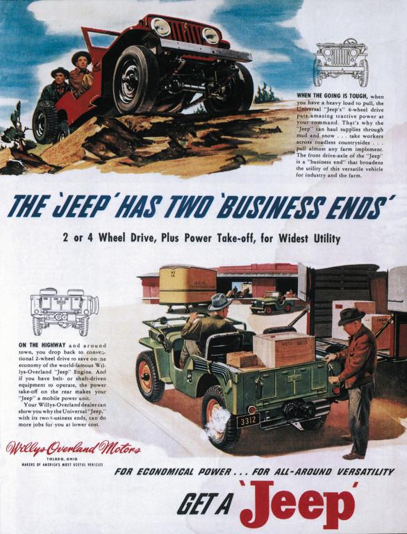 Jeep-Werbung von 1947