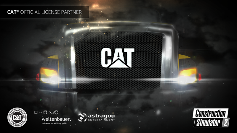 Caterpillar Inc. as official partner for Construction Simulator 2