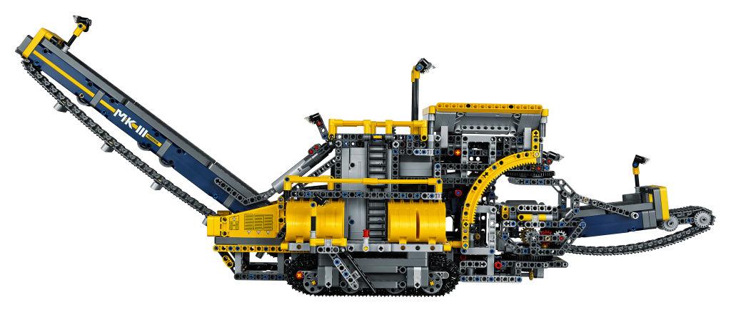 LEGO-Technic-Schaufelradbagger mobile-Aufbereitungsanlage seitlich