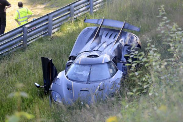 Koenigsegg One:1 crash auf dem Nürburgring