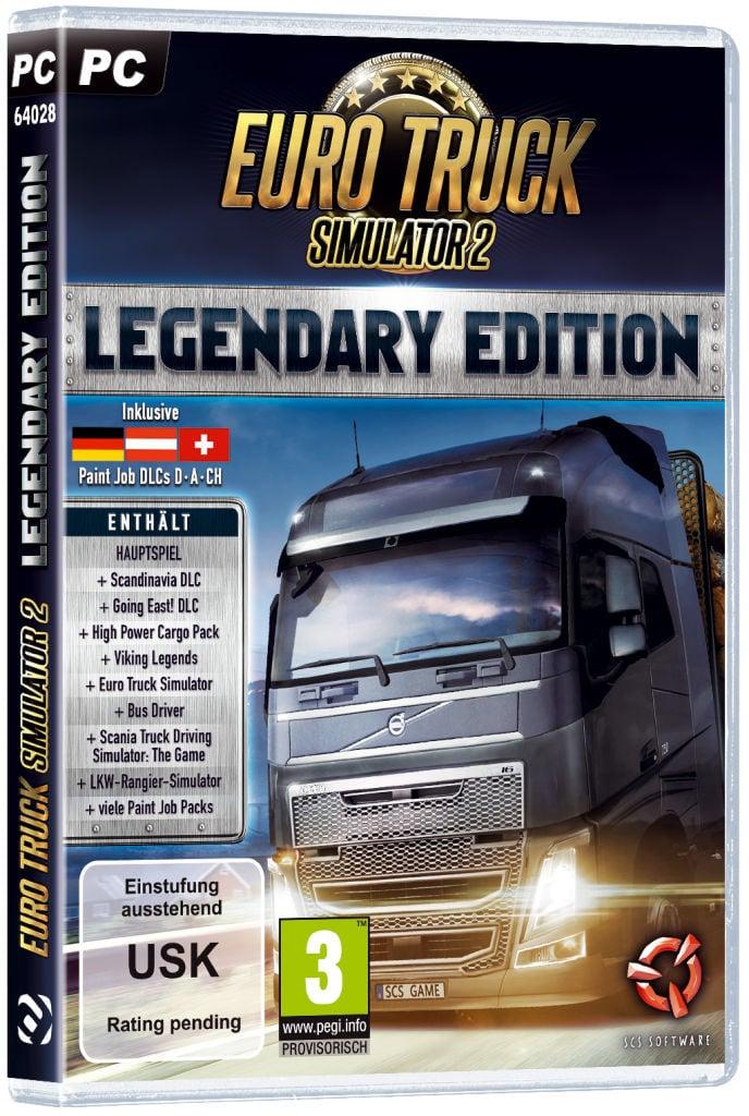 Die nicht limitierte Euro Truck Simulator 2: Legendary Edition kann ab dem gleichen Datum für 39,99 € (UVP) erworben werden.