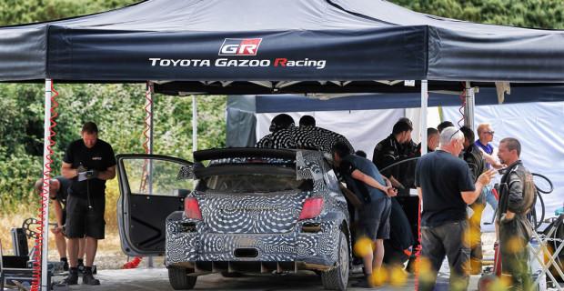 Rallye-Comback von Toyota: Testfahrten in Finnland