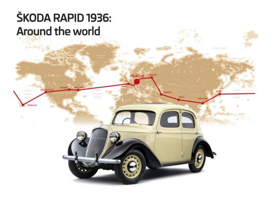 Břetislav Jan Procházka und Jindřich Kubias fuhren 1936 mit einem Skoda Rapid um die Welt