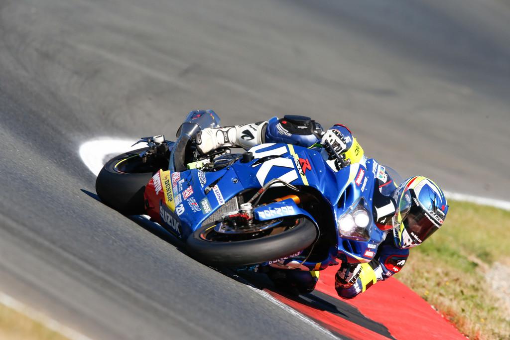 Motorrad-Langstrecken-WM: GSR-X 1000 des Suzuki-Endurance-Racing-Teams (SERT) beim Finallauf in Oschersleben