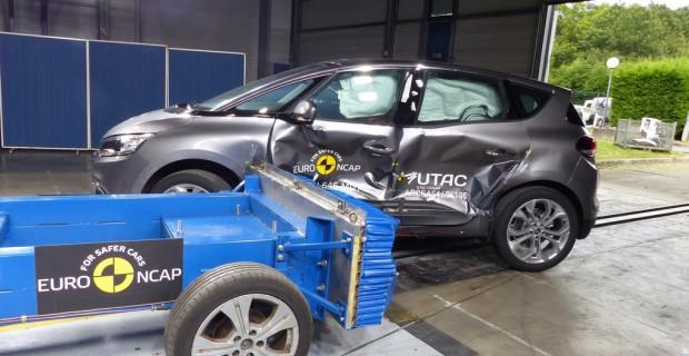 Renault Scenic im Euro-NCAP-Crashtest.