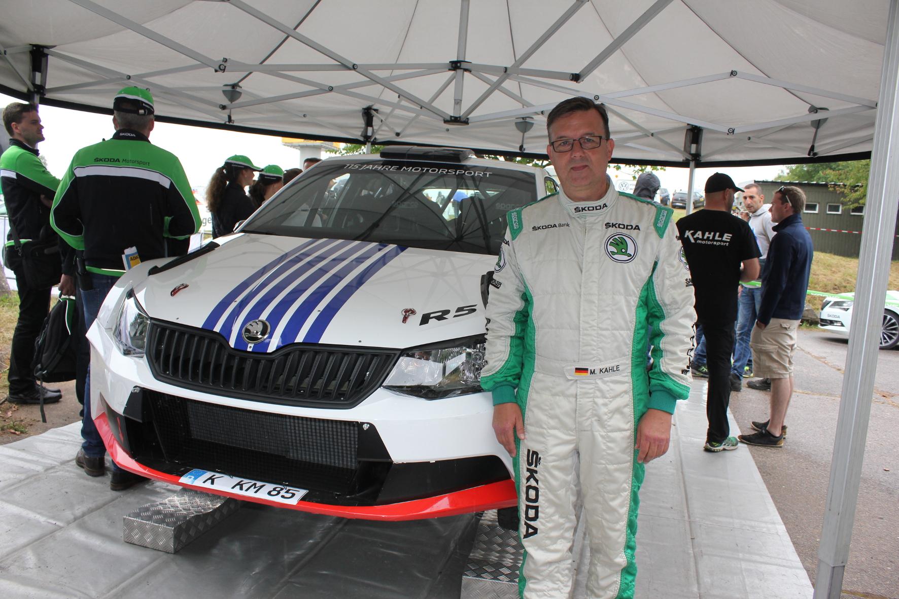 Der siebenmalige deutsche Rallymeister Mattias Kahle lässt im Rahmen der Wertungsprüfung