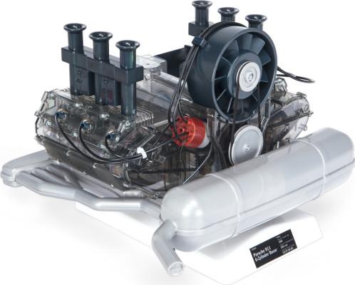 Porsche-Boxermotor als Funktionsmodellbausatz von Franzis im Maßstab 1:4