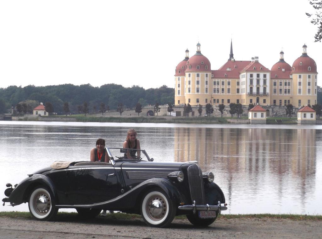 Gemeinsam arbeiten und genießen mit Oldtimern: Mit MOritz nach Moritzburg, Super 6-Gläser-Zweisitzer, Alois Drexler, Wackersdorf.