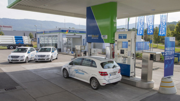 Wasserstofftankstelle in Metzingen.