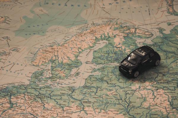 Auto-Landkarte
