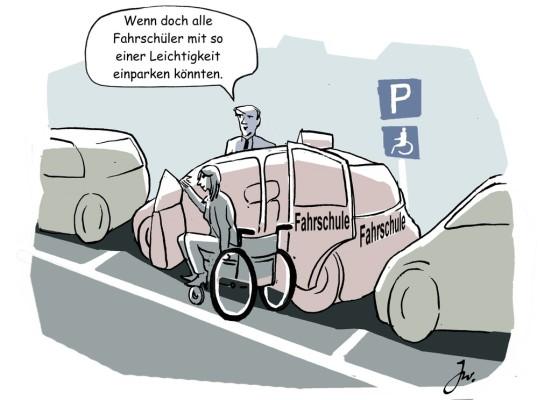 Auto fahren trotz Behinderung.