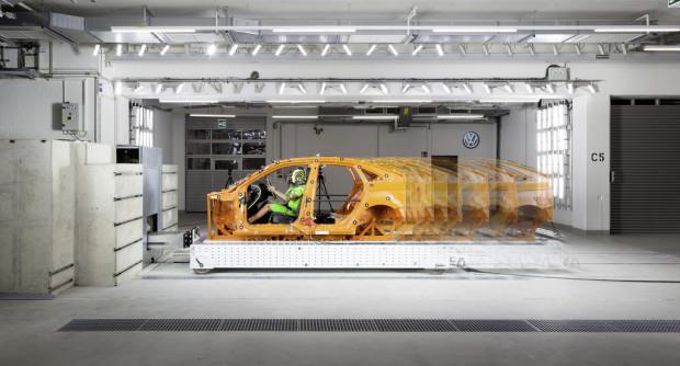 Schlittenanlage im VW-Kompetenzzentrum