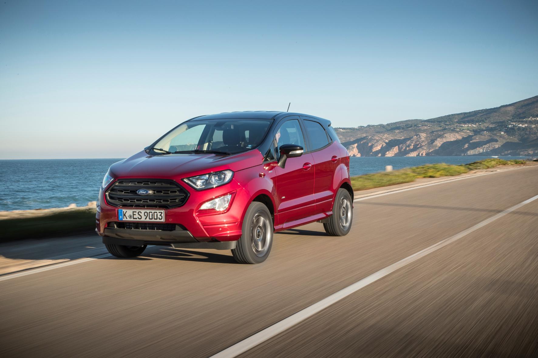Knuffiges Mini-SUV: Die hohe Gürtellinie lässt den Ford EcoSport etwas pummelig wirken.