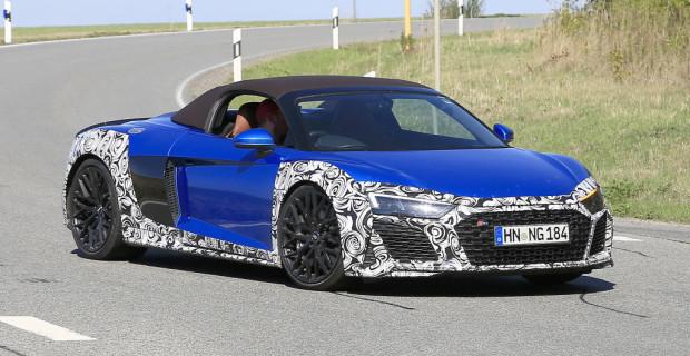 Audi R8 Spyder Facelift Erlkönig.