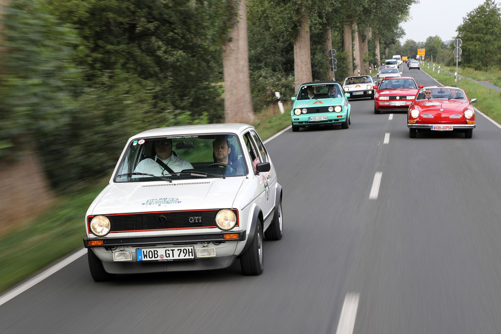 Hamburg-Berlin-Klassik 2018: Golf I GTI (1978).