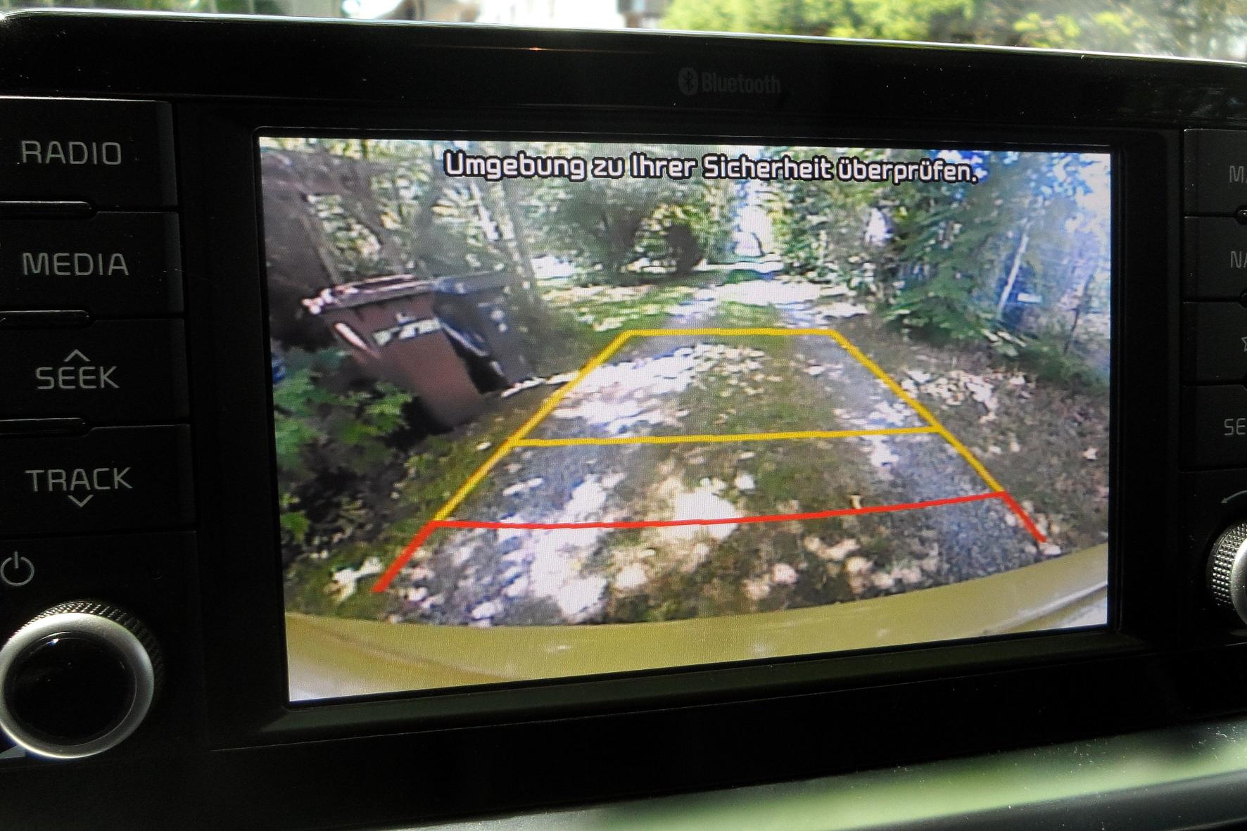 Die Rückfahrkamera und der 7-Zoll-Bildschirm gehören bei der Version X-Line zur Serienausstattung.