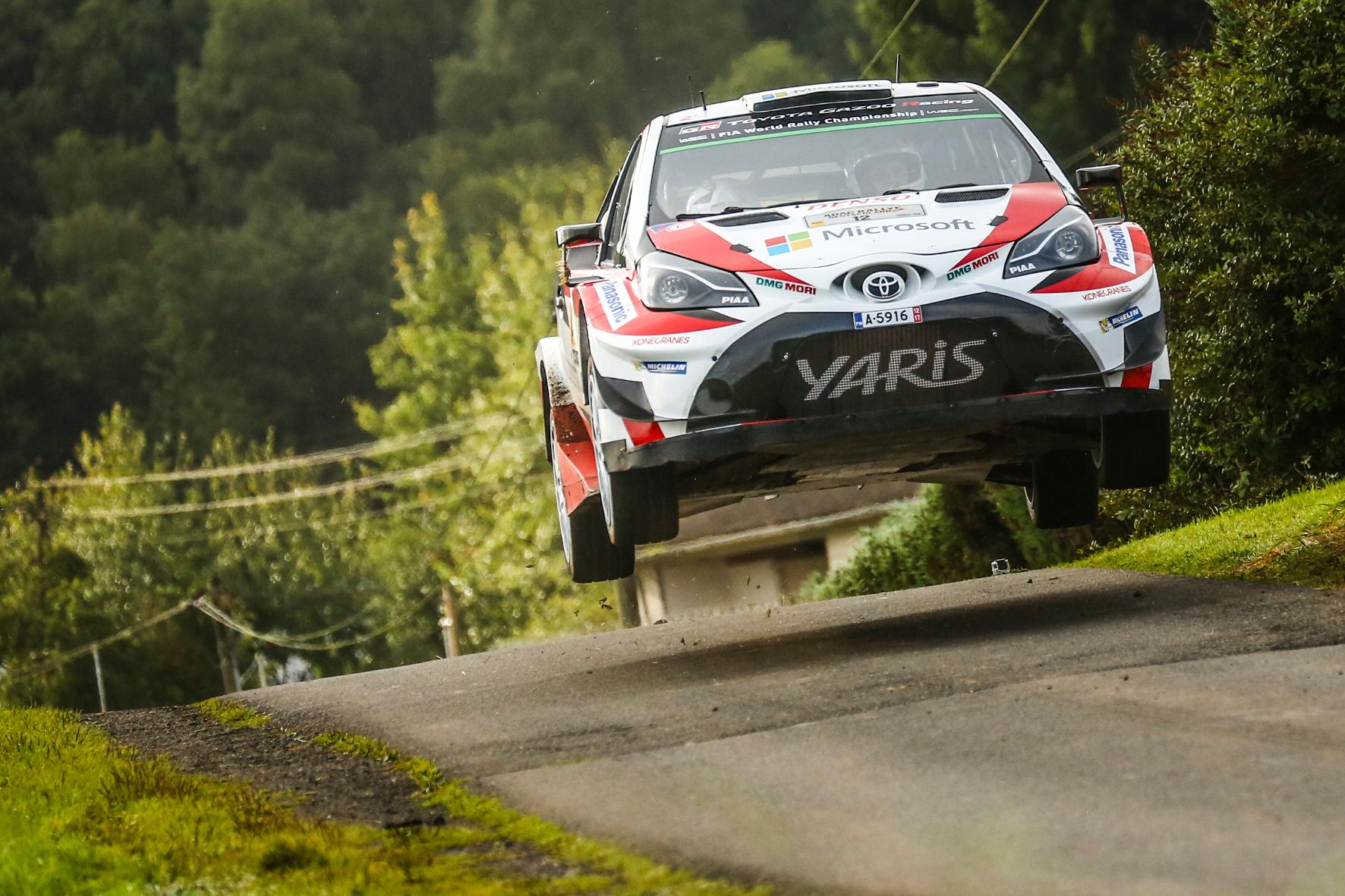 Überflieger: Mit dem Yaris WRC mischt Toyota die Rallye-Weltmeisterschaft auf.