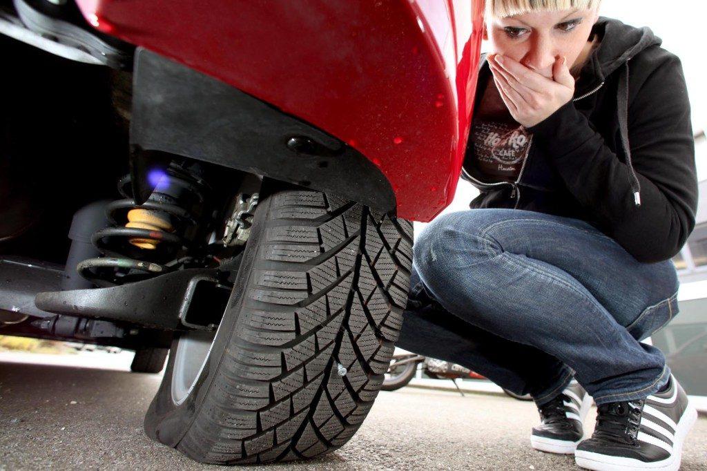 Beschädigung der Reifen