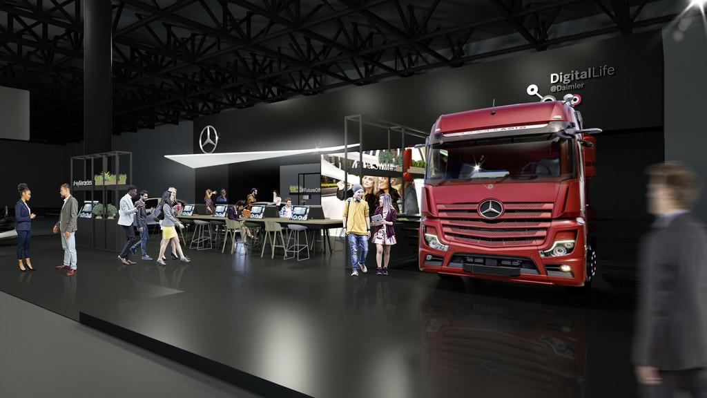Daimler beim Mobile World Congress.