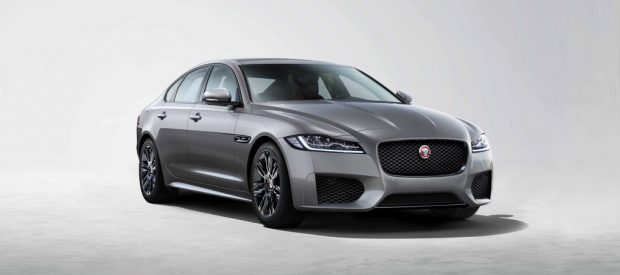 Jaguar XF Chequered Flag.