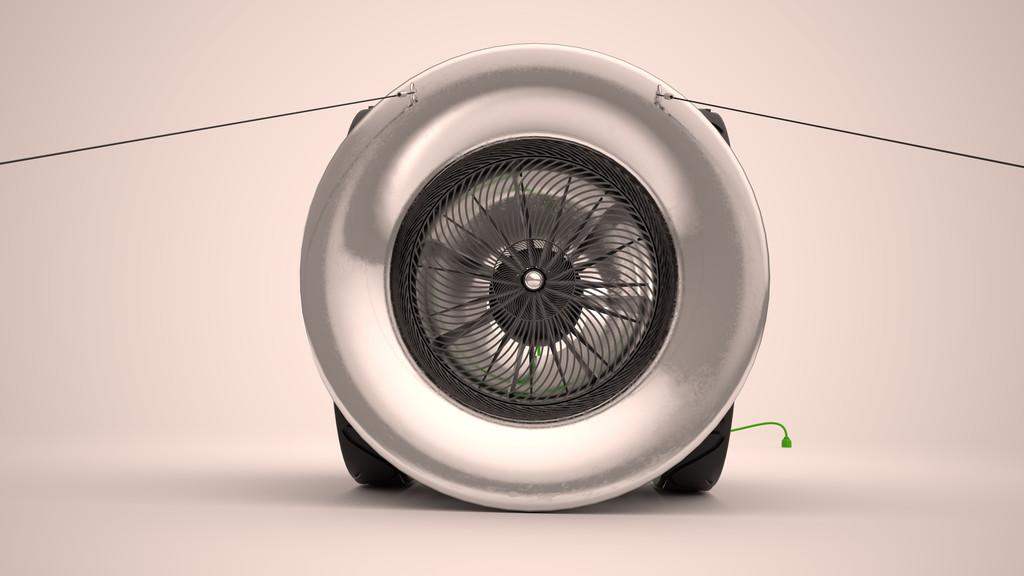 Lexus Design Award 2019: Green Blast Jet Energy von Dmitriy Balashov (Russland) ist eine Turbine, die den Triebwerksstrahl startender Flugzeuge sammelt und in Energie umwandelt.