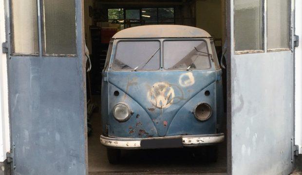 Nach 54 Jahren entdeckt: der erste VW T1 Radarmesswagen, der zu Schulungszwecken der Polizei in Niedersachsen im Einsatz war.