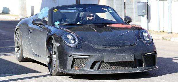 Porsche 911 Speedster Erlkönig ohne Verdeck
