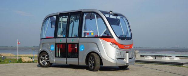 Selbstfahrender Minibus Autonom Shuttle von Navya.