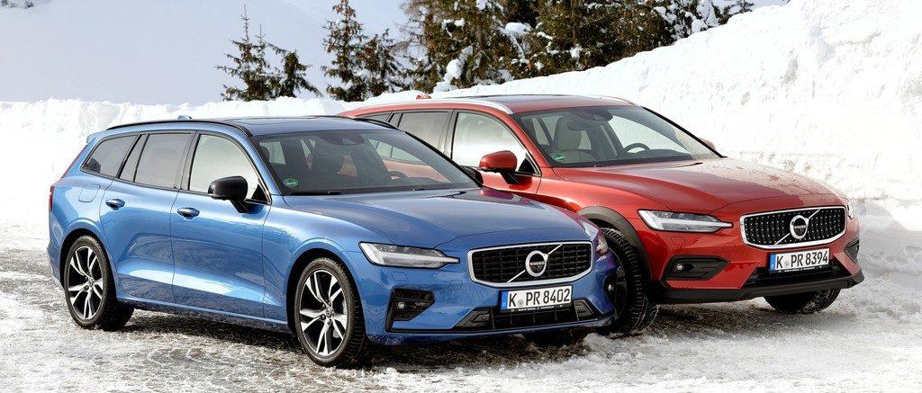 Volvo V60 R-Design (links) und Cross Country.