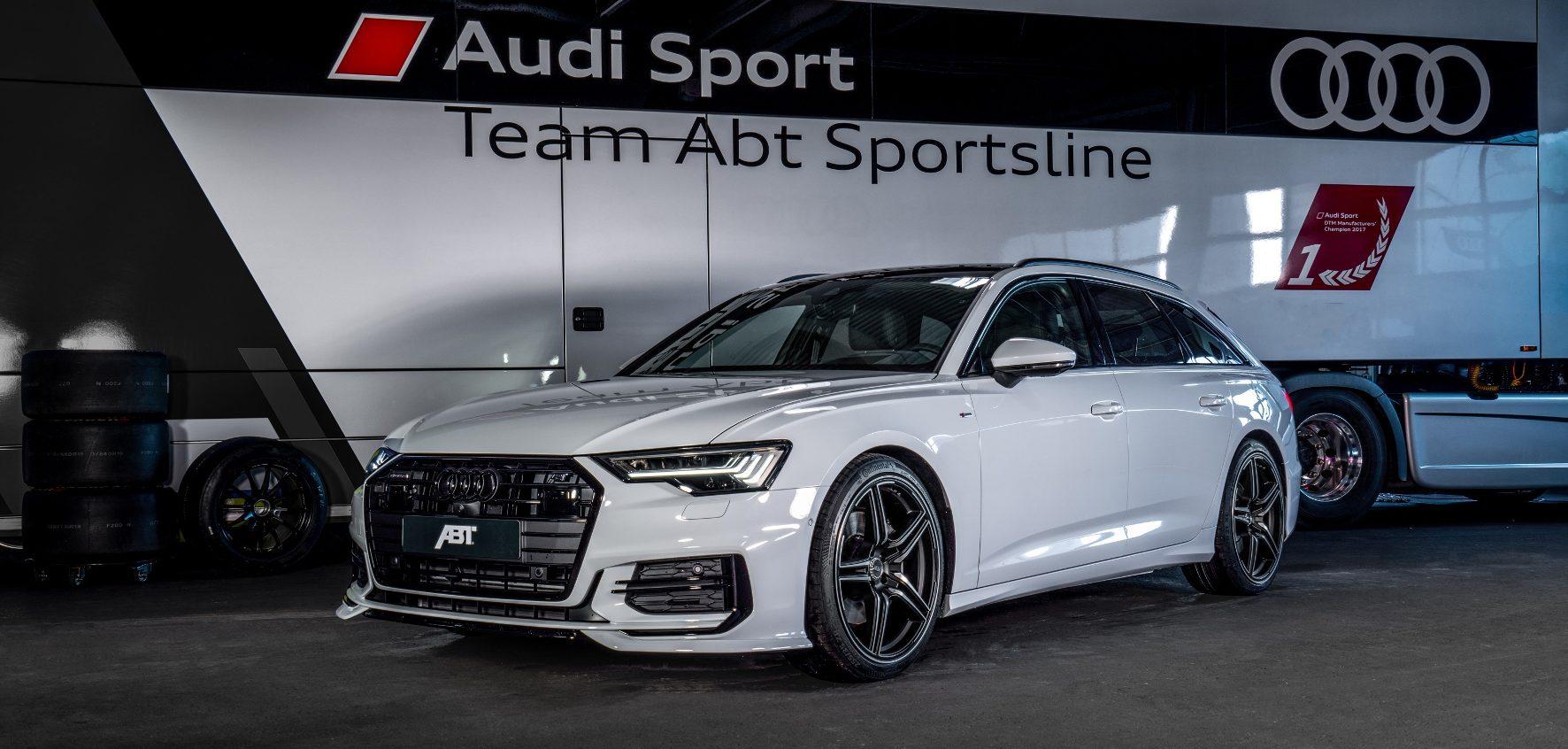 Alpiner Charme: Passend zum schweizerischen Gastgeberland des Auto-Salons nennt sich die Farbe der Lackierung des A6 Abt