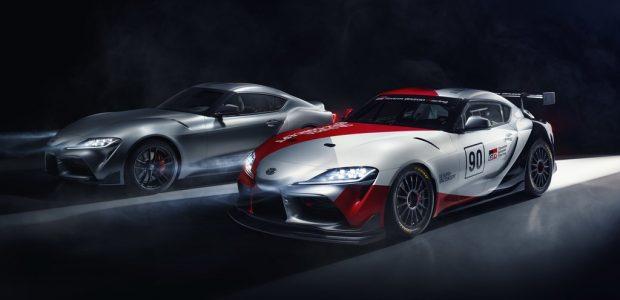 Toyota GR Supra GT4 Concept und GR Supra (l.).