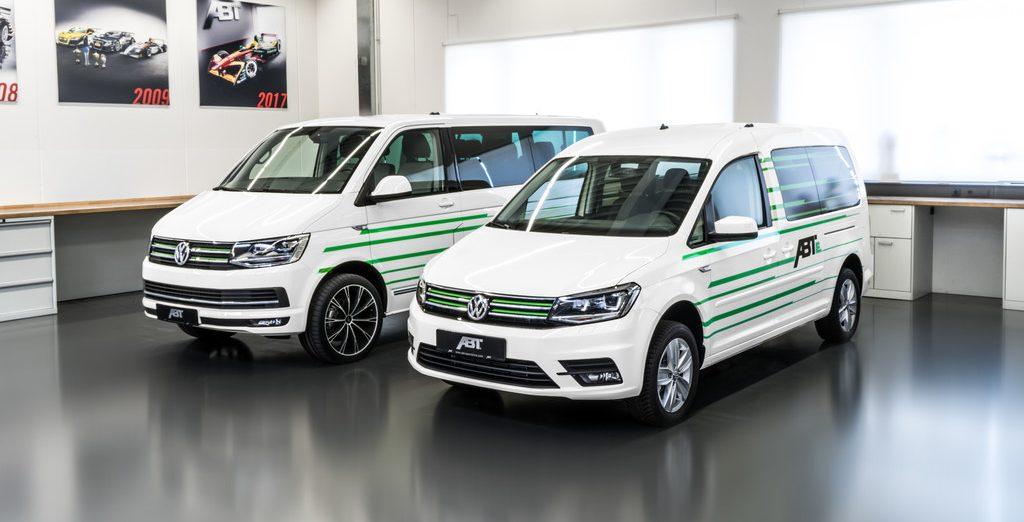 Volkswagen T6 Abt e-Line und Caddy Abt e-Line.