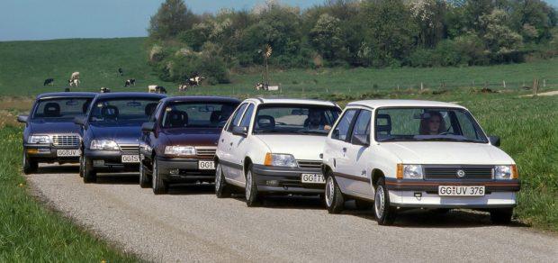 Opel Corsa, Kadett, Vectra, Omega und Senator (1989).