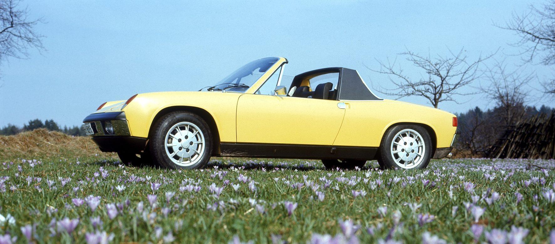 Vielen Dank für die Blumen. Und für eine Design-Ikone der späten 1960er. Der VW-Porsche 914, der von 1969 bis 1976 gebaut wurde.