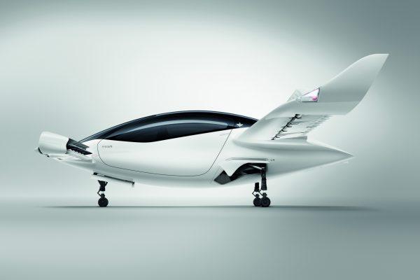 In der Seitenansicht erinnert das künftige E-Flugtaxi ein wenig an einen Kolibri.